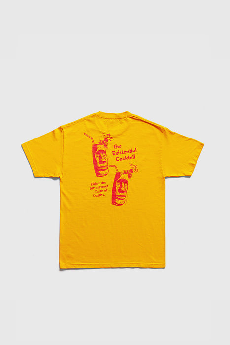 Existential Cocktail T-Shirt - Gold