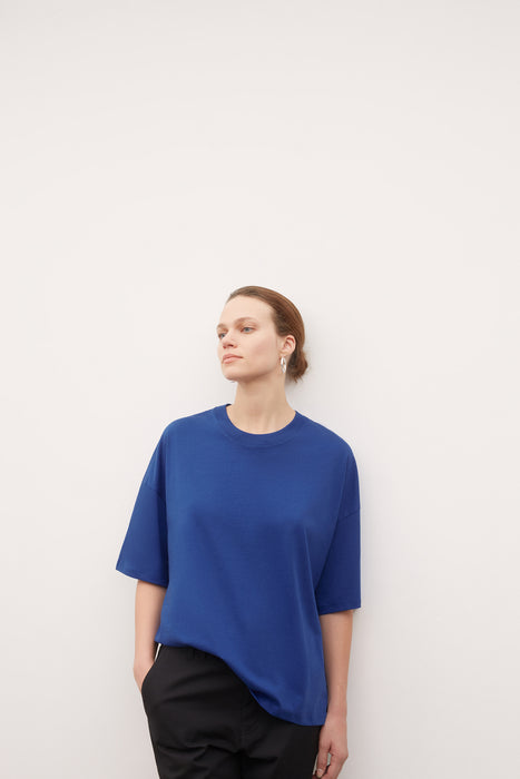Oversized Boxy Tee - Bright Blue