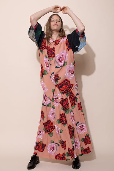 Ceremony Blouse - Roses/Patchwork