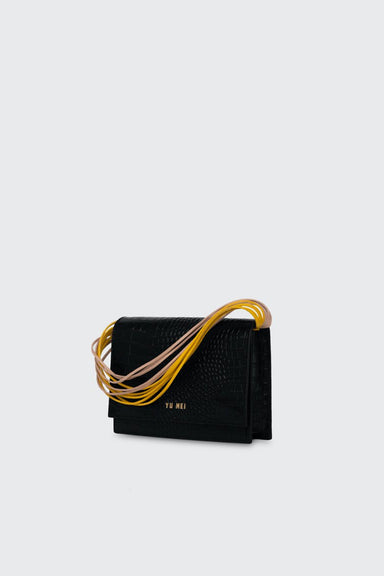 2/6 Suki Clutch - Black Croc