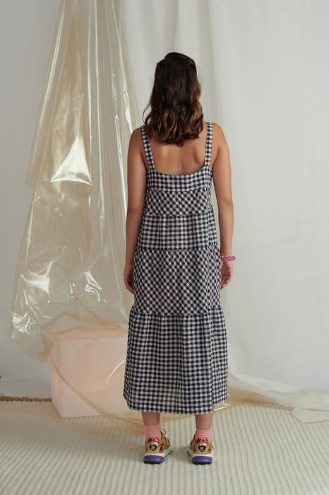 Daphne Dress - Navy Gingham