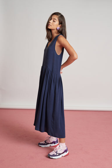 Fable Dress - Washed Navy