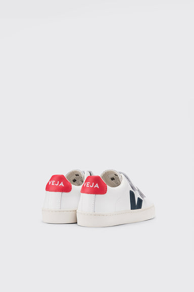 Kids Esplar Velcro Leather - Extra White / Nautico Pekin