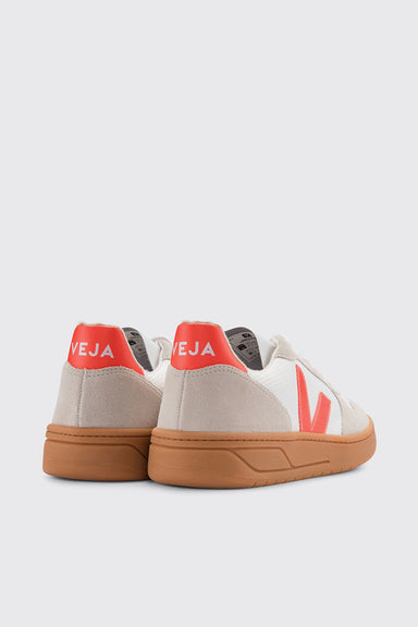 V-10 B-Mesh - White / Orange Fluo / Natural