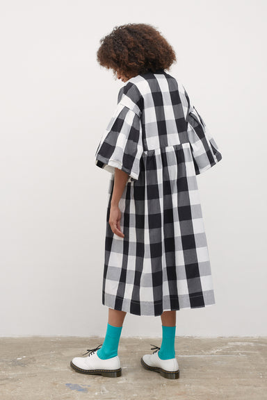 Yoshi Dress - Black & White Check