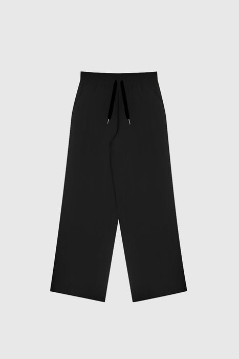 Women's Wide Leg Linen Pant - Black