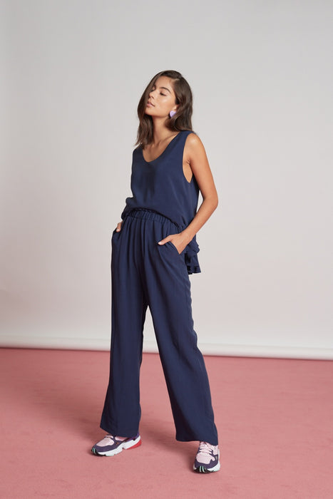 Amy Pants - Washed Navy