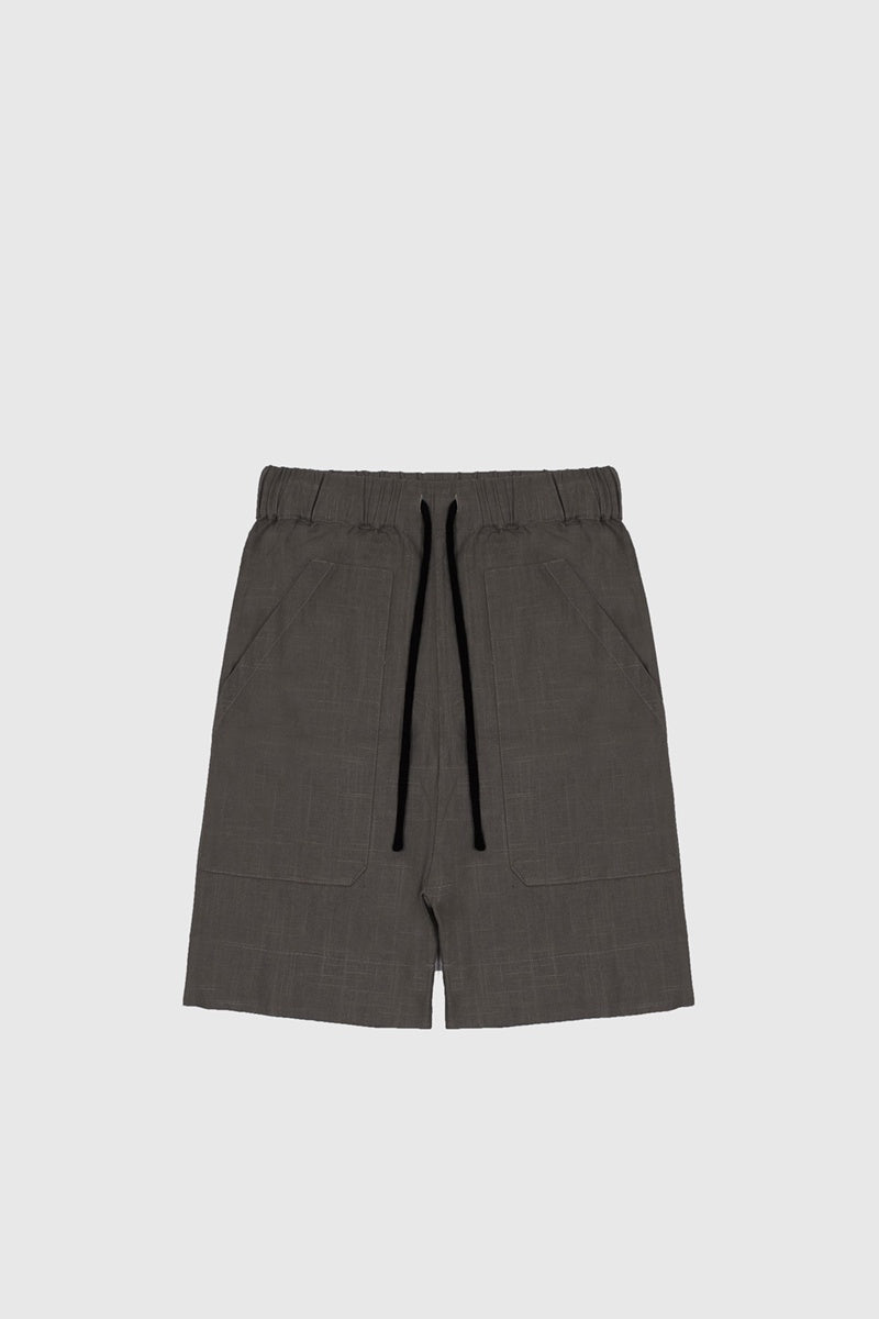 Patch Pocket Walk Shorts - Grey