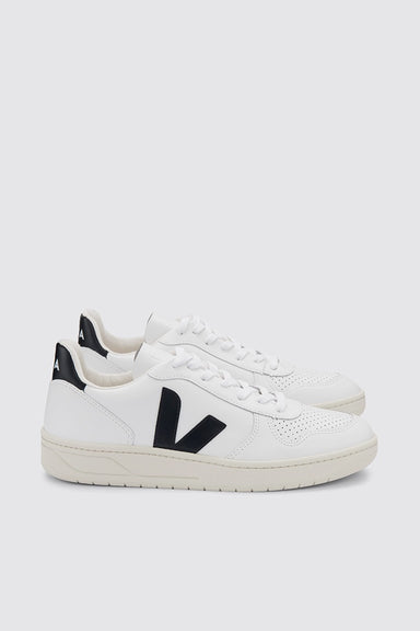 V-10 Leather - Extra White / Black