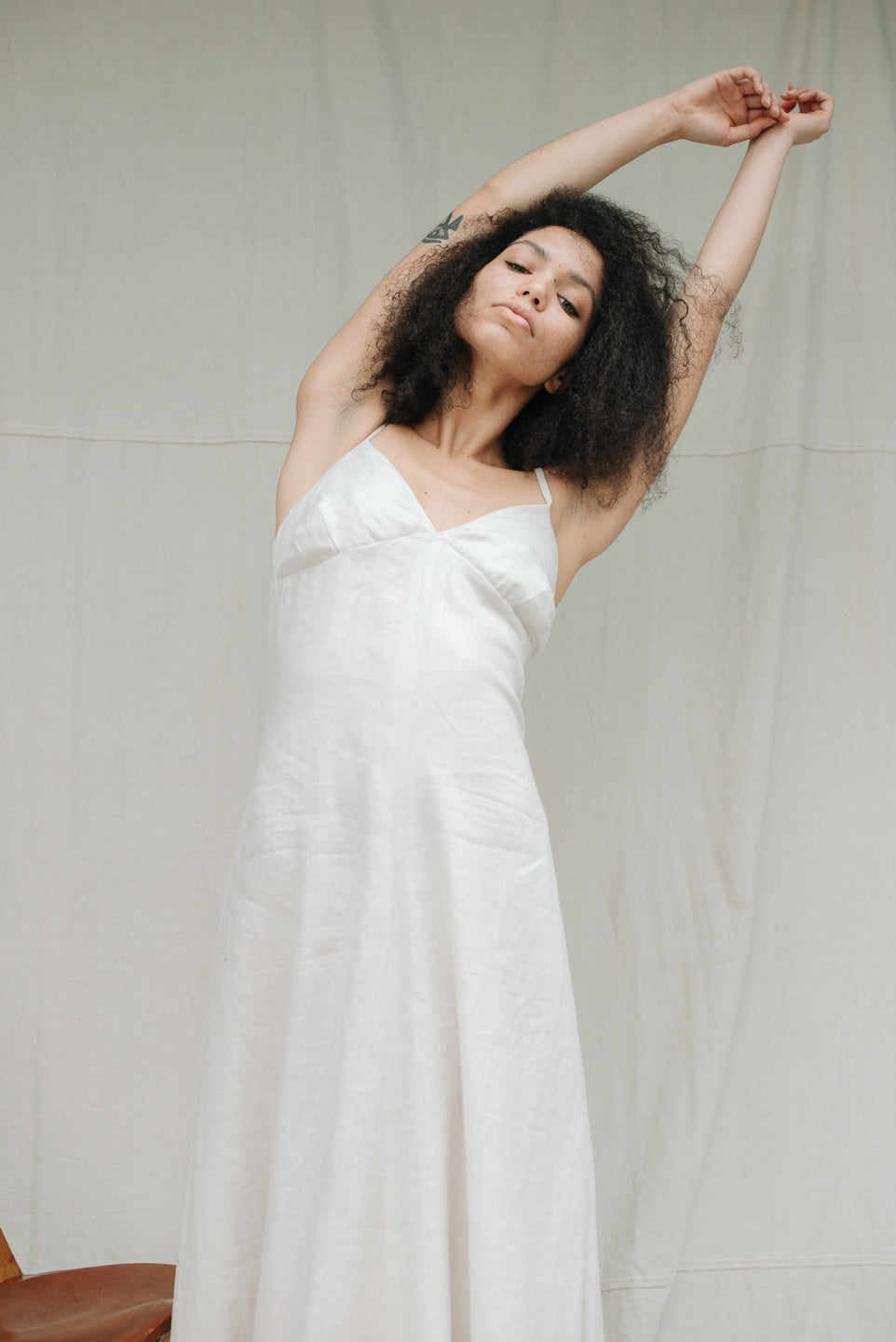 Gracey Dress - Natural Linen