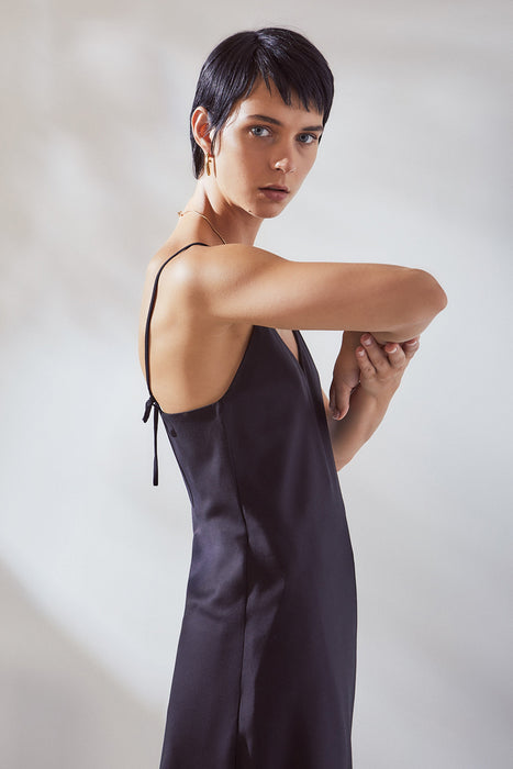 Ada Slip Dress - Black