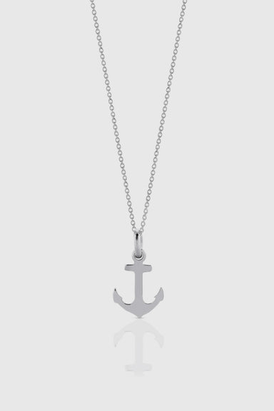 Anchor Charm Necklace - Sterling Silver