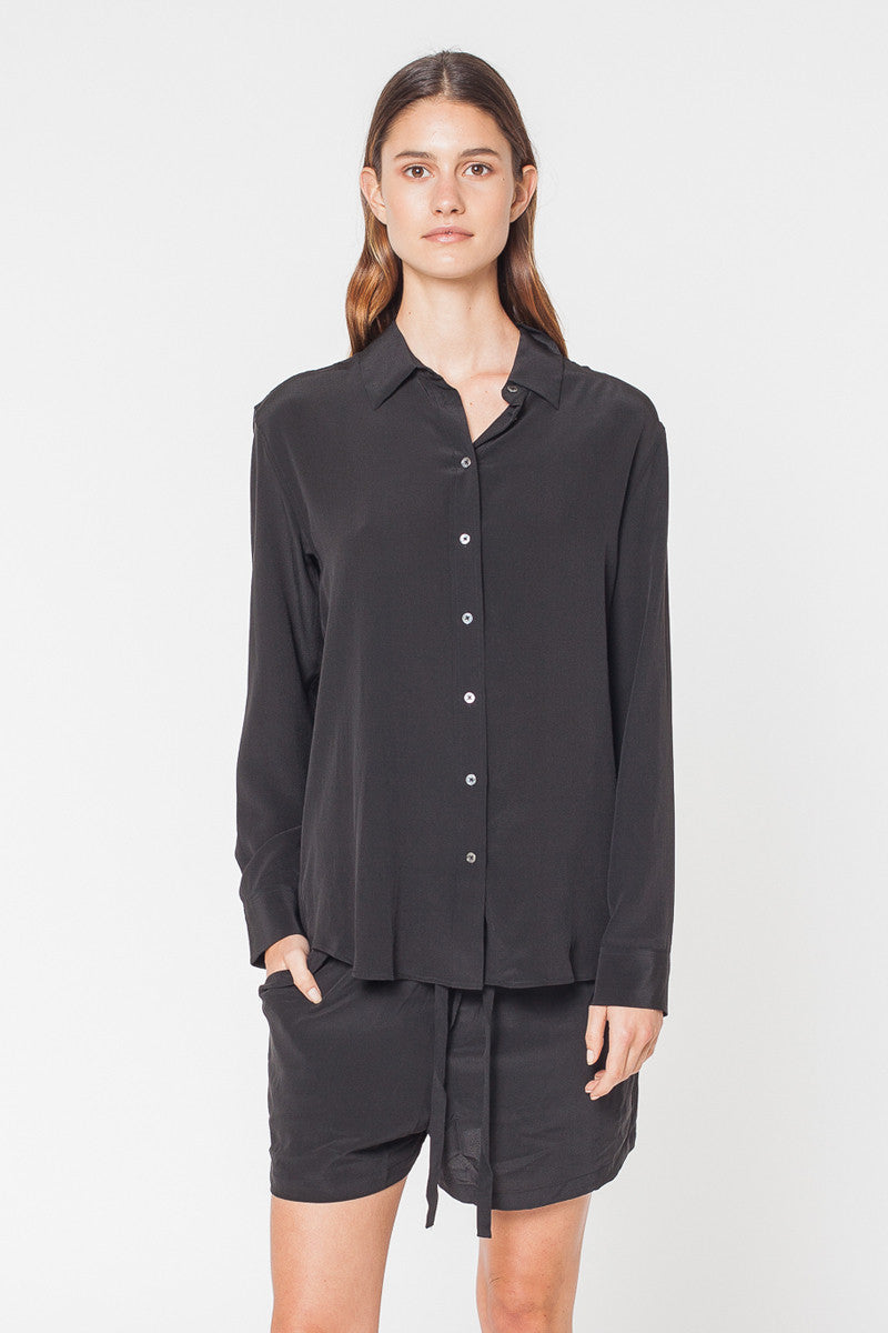 Habitual Silk Shirt - Black