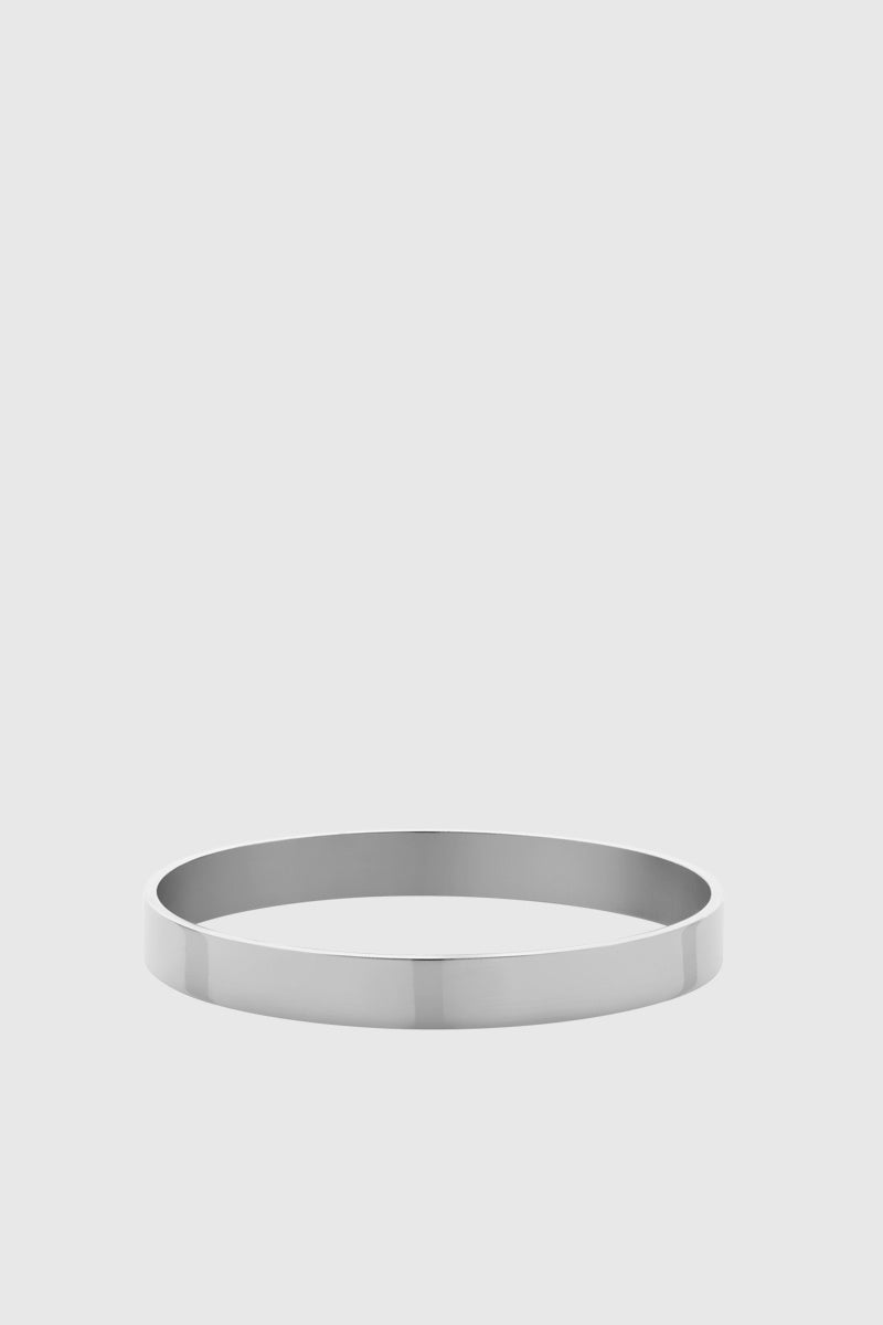 8mm Flat Bangle - Sterling Silver