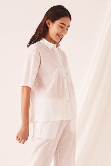 Voile Lounge Shirt - White