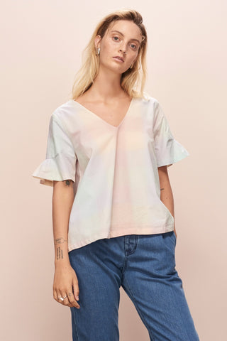 Daze Top - Pastel Check