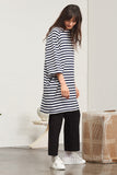 Building Block Oversized Tee Dress - Blue/White