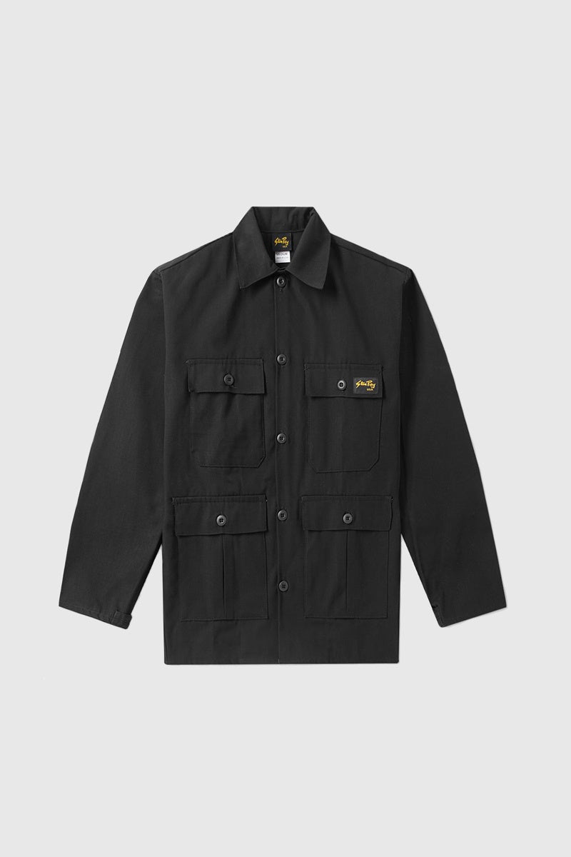 Four Pocket Jacket - Black Rip Stop