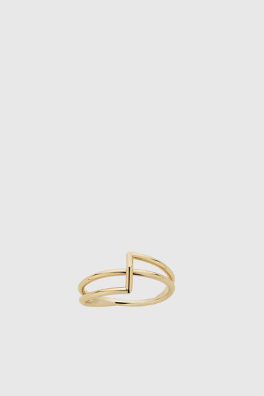 Bolt Ring - 9ct Yellow Gold