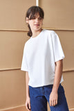 Building Block Boxy Tee - White