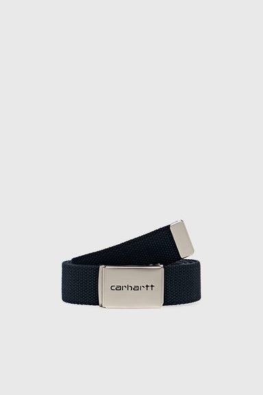 Clip Belt Chrome - Dark Navy