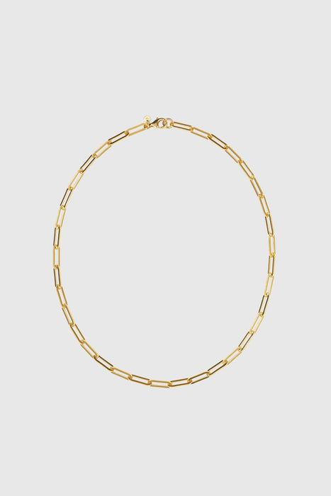 Paperclip Heavy Necklace - Gold Plated