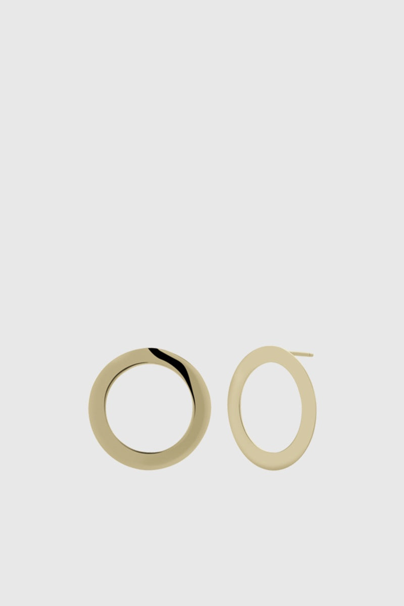 Medium Saturn Earrings - Gold Plated