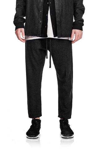 Relaxed Linen Pant - Washed Black