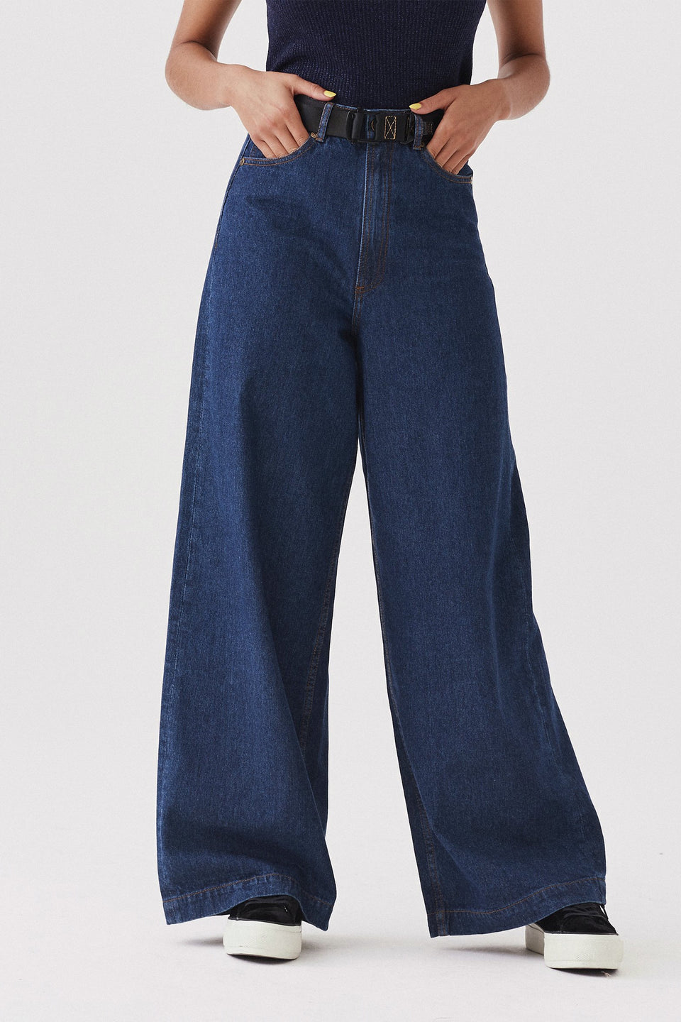 Rainbow Bum Jeans - Blue