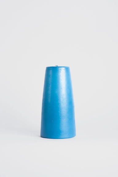 90x180mm Cone Candle - Lake Blue