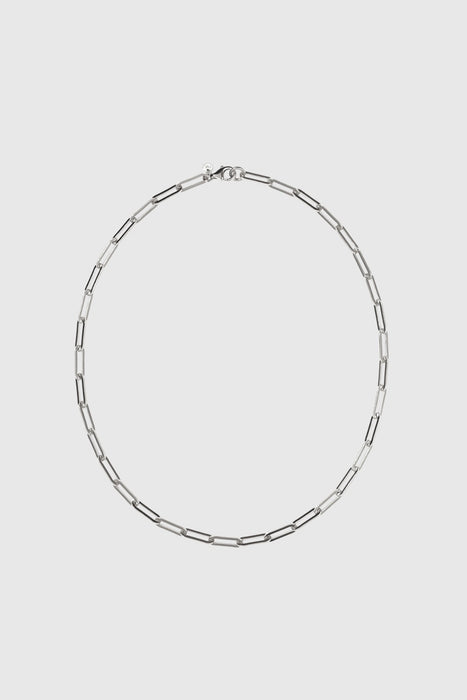 Paperclip Heavy Necklace - Sterling Silver