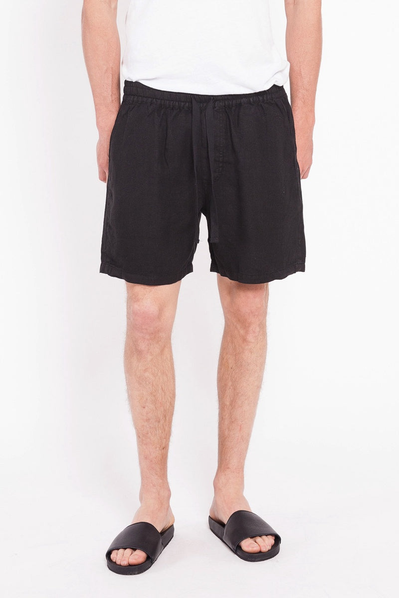 Departure Linen Short - Black