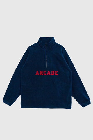 Quarter Zip Polarfleece - Navy