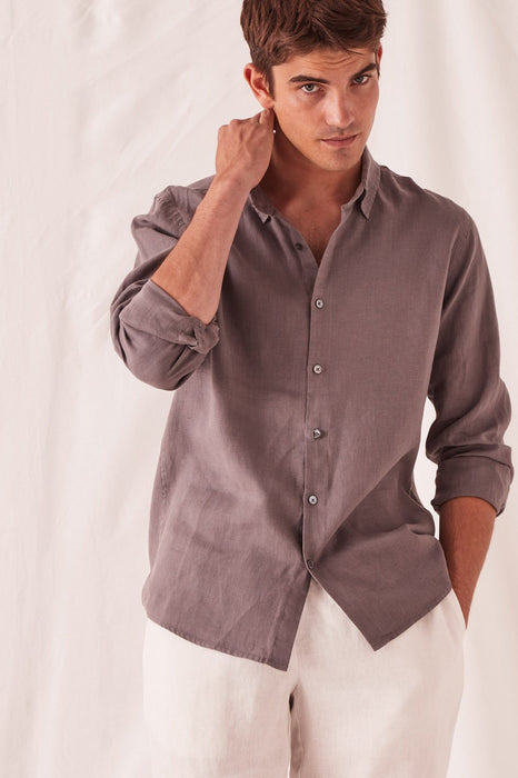 Casual Long Sleeve Shirt - Sable