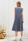 Daisy Dress - Navy Stripe