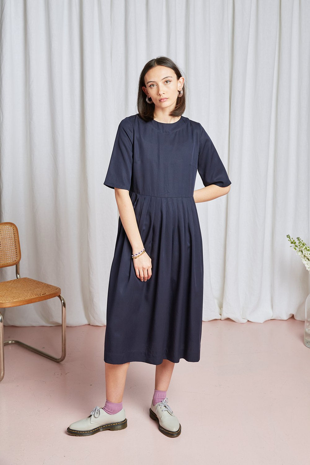 Octavia Dress - Navy