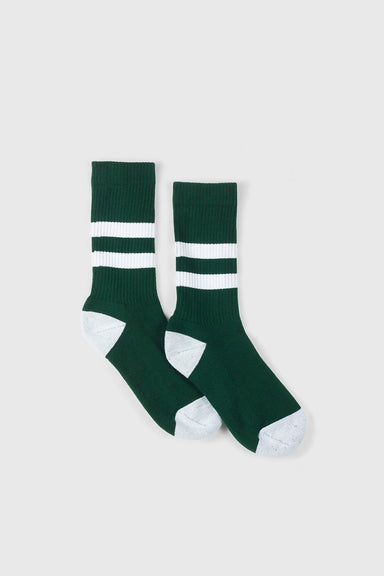 No. 014 - Bottle Green / White Stripe