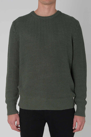 Hemp Blend Crew Knit  - Green