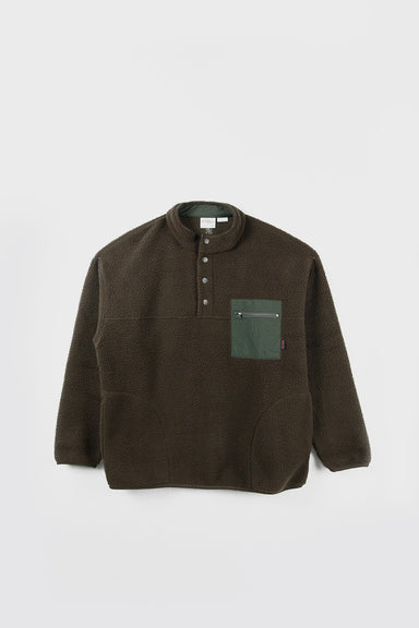 Boa Fleece Pullover Shirt - Olive
