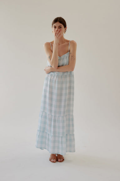 Winona Dress - Mint Gingham