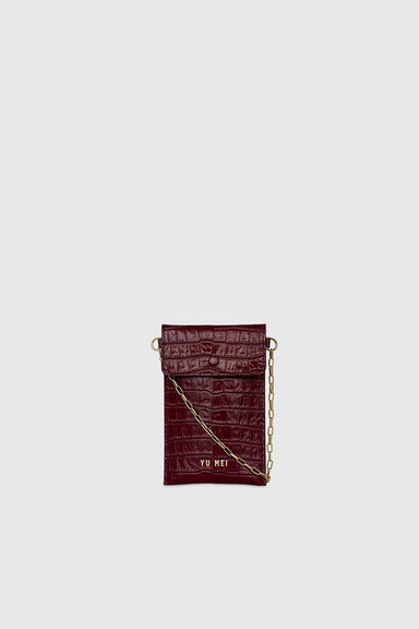1/8 Luci Bag - Tamarillo Croc