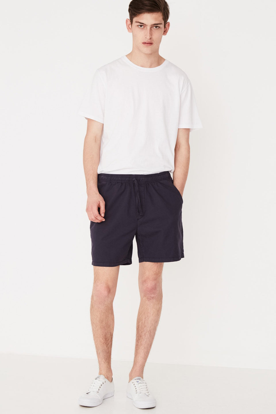 Cotton Walkshort - Worn Navy
