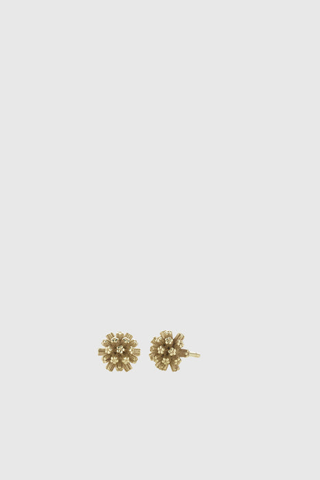 Pom Pom Stud Earrings - Gold Plated
