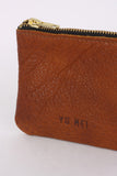 1/8 Greta Purse - Tobacco Shrunken