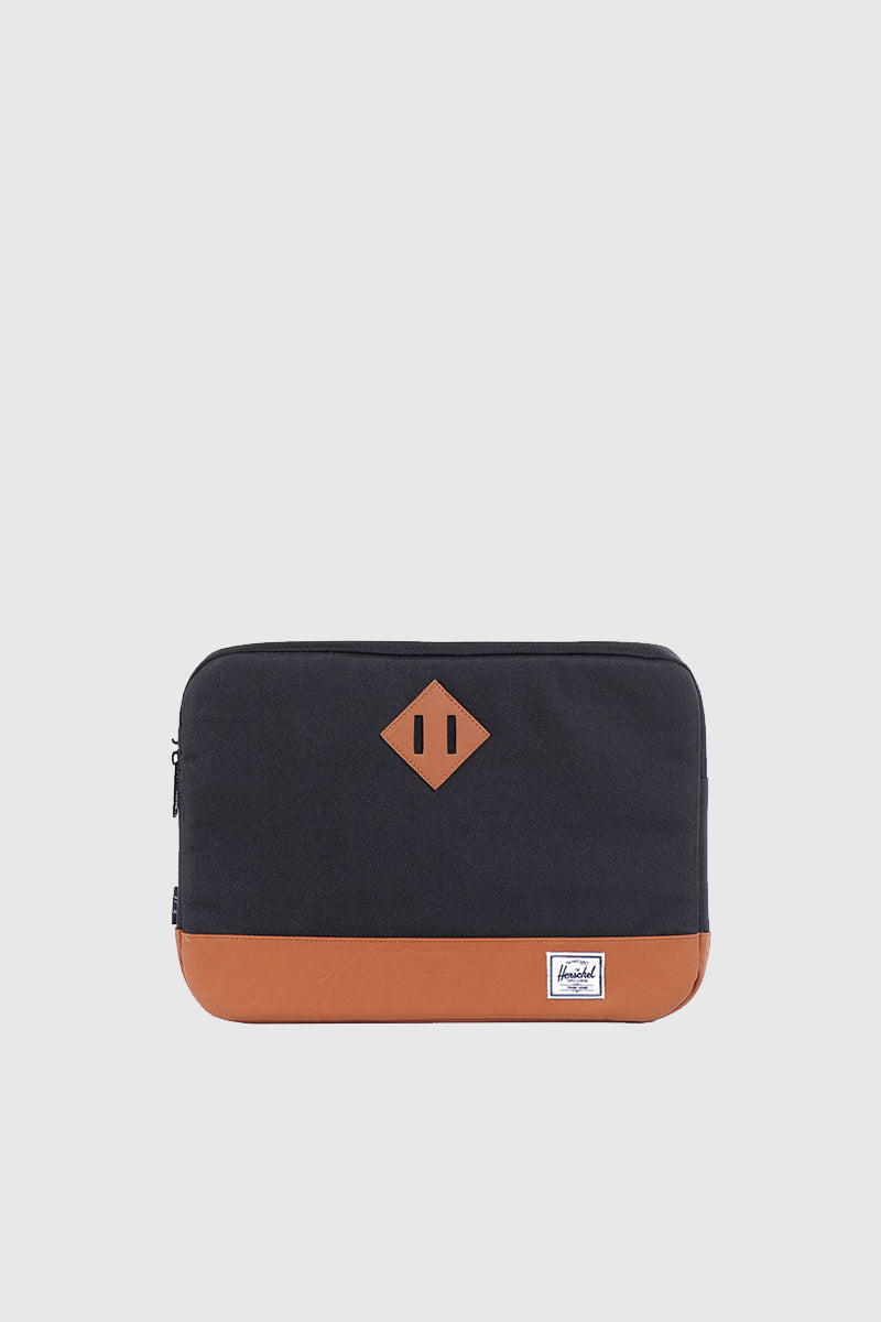 Heritage Sleeve for 13 inch Macbook - Black/Tan Synthetic