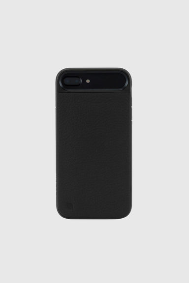 Icon II Case for iPhone 7 Plus - Black Pebbled Leather