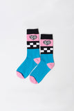 Checkerboard Socks - Teal