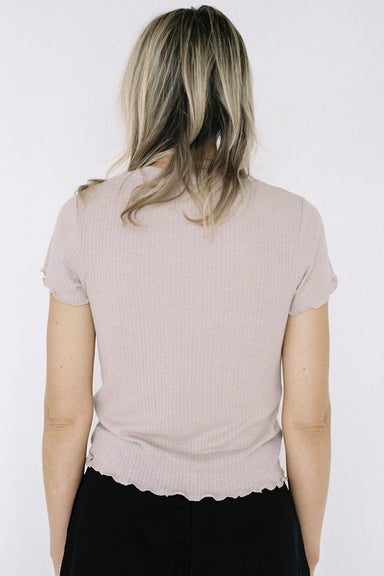 Lonely Rib Tee - Blush