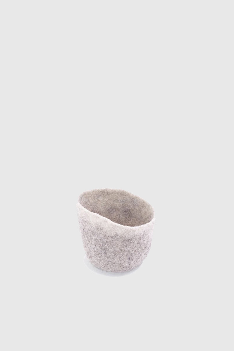 Bicolor Drop Felt Bowl - Light Stone Natural