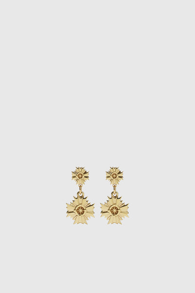 August Drop Earrings Small - Gold Plated